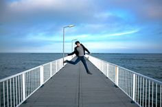 jumping on a Pier at the Black Sea. all clothes are from Lee Cooper Autumn 2013 Black Sea, All Over The World, Denim, Bridges, Autumn, Clothes, Style, Fashion, Outfits