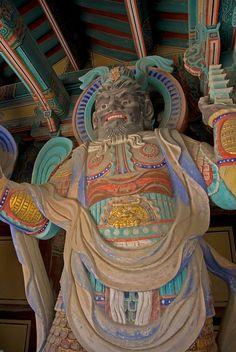 Guardian at Bulguksa Temple Gate- Gyeongju, South Korea