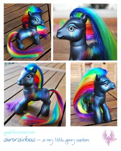Aurorainbow by puush Original My Little Pony, Vintage My Little Pony, My Lil Pony, My Little Girl, Bratz Doll, Blythe Dolls, My Little Pony Collection, Cute Fantasy Creatures, Little Poney