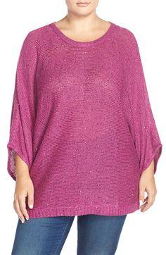 Melissa McCarthy Seven7 Sequin Dolman Sleeve Sweater (Plus Size) available at #Nordstrom