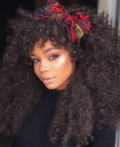 Kira long curly Afro natural hair My curls aren't as tight or as thick but her hair is still gorgeous! Natural Afro Hairstyles, Bandana Hairstyles, African Hairstyles, Trendy Hairstyles, Curly Hair Styles, Natural Hair Styles, Coiffure Hair, Good Hair Day, Natural Curls