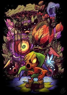 Legend of Zelda Majora's Mask art > The Deku Curse Nintendo Art, Legend, Game Art, Zelda Art, Video Game Art, Art, Anime, Fan Art, Masks Art