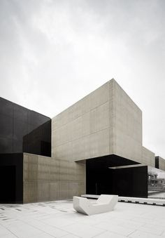 | ARCHITECTURE | Photo Credit: José Campos Pitagoras architects Platform of Arts and Creativity for the 2012 Guimarães European Capital of Culture Guimarães, Portugal; Client: Câmara Municipal de Guimarães Project Date: 2010/2012. love the simple #exterior paired with black #timeless #architecture