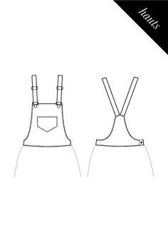 Salopette Sewing Hacks, Sewing Projects, Diy Wardrobe, Overalls, Shorts, Digital Pattern, Atari Logo, Sexy Outfits, Size Chart