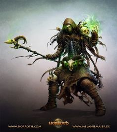 The Undead Warlock by melaniemaier necromancer wizard skeleton monster beast creature animal | Create your own roleplaying game material w/ RPG Bard: www.rpgbard.com | Writing inspiration for Dungeons and Dragons DND D&D Pathfinder PFRPG Warhammer 40k Star Wars Shadowrun Call of Cthulhu Lord of the Rings LoTR + d20 fantasy science fiction scifi horror design | Not Trusty Sword art: click artwork for source