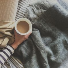 All I need is an early morning, a warm cup of coffee, a blanket, and my bible.