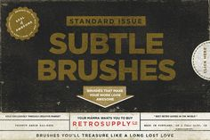 You're set of secret awesome brushes. You want want to tell anyone about these. RetroSupply Co. on Creative Market