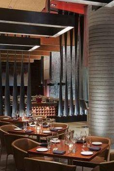 Zylo Steakhouse at the W Hoboken Hotel, New Jersey by Gwathmey Siegel & Associates Architects