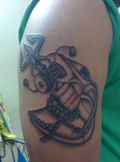 #Lord #Shiva #OM #Trishul #Third eye #Rudraksh #Damru #Saiyam ...Inkd by my friend saiyam...
