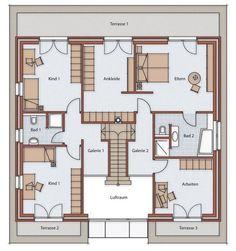 Obergeschoss, 2-geschossig villa, Villa