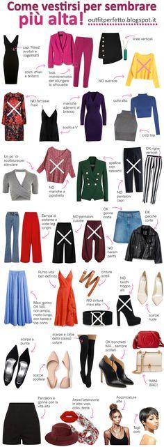 Come vestirsi per sembrare più alta: 35 trucchi e consigli!!! Leggi tutto l'articolo su Outfit Perfetto: http://outfitperfetto.blogspot.com/2017/11/consulenza-moda-immagine-come-vestirsi-per-sembrare-piu-alta-alte-trucchi-idee-consigli-abiti-accessori-colori-allungare-gambe-slanciare-fisico-silhouette-figura-meno-bassa-basse-donna-petite.html