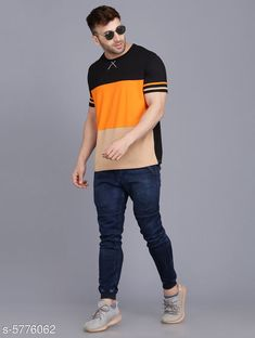 Tshirts Stylish Striped Men Round Neck Multicolor T-shirt Fabric: Cotton Pattern: Solid Multipack: 1 Sizes: S (Chest Size: 38 in Length Size: 26 in)  XL (Chest Size: 44 in Length Size: 29 in)  L (Chest Size: 42 in Length Size: 28 in)  M (Chest Size: 40 in Length Size: 27 in) Country of Origin: India Sizes Available: S, M, L, XL   Catalog Rating: ★4.1 (446)  Catalog Name: Comfy Partywear Men Tshirts CatalogID_869345 C70-SC1205 Code: 924-5776062-5601