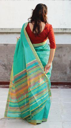 Handloom Cotton Saree from Tamil Nadu