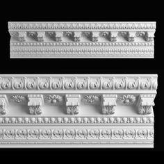 Cornice Arkada K 135 Max - Model Decorative Plaster, Decorative Mouldings, Plaster Cornice, Cornice Design, Classic House Exterior, House Outside Design, 3d Panels, Classic Architecture, 3d Max