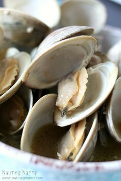 Beer Steamed Clams - Nutmeg Nanny These were amazing! Used Sam Adams & lots of butter.