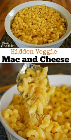 Hidden Veggie Baked Mac and Cheese - for the picky eaters at your house. They will never know this yummy mac and cheese contains veggies!