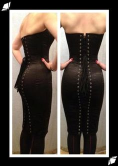 Sample corset dress by What Katie Did.