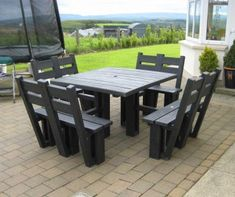 Our outdoor furniture products are constructed from top quality maintenance free recycled plastic. They are stylish, sturdy, practical and durable.