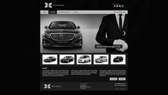 Car rental web template.