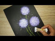 Canvas Painting Designs, Diy Canvas Art, Dandelion Painting, Painting Flowers, Creative Arts Therapy, Arte Floral, Art Plastique, Spring Crafts, Flower Art