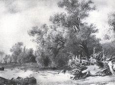 Logging, 1867 by Ivan Shishkin. Realism. landscape. Tretyakov Gallery, Moscow, Russia