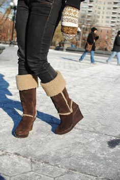UGG Australia's suede wedge boot for women - the Aubrie