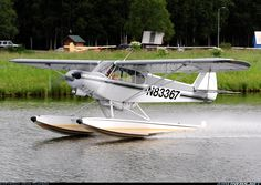 Piper pa 18 150 super cub anchorage lake hood strip seaplane lhd
