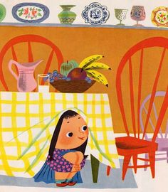 Illustration from I Can Fly, a Little Golden Book first published in Written by Ruth Krauss. Illustration by Mary Blair. Mary Blair, Paolo Conte, Guache, Children's Book Illustration, Book Illustrations, Digital Illustration, Vintage Children's Books, Modern Graphic Design, Book Art