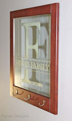 DIY Gifts for Your Parents | Cool and Easy Homemade Gift Ideas That Mom and Dad Will Love | Creative Christmas Gifts for Parents With Step by Step Instructions | Crafts and DIY Projects by DIY JOY | Easy DIY Etched Family name and Initials on Glass | http://diyjoy.com/diy-gifts-for-mom-dad-parents