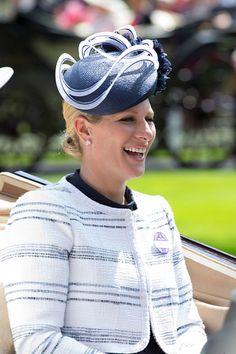 Zara Phillips at the fourth day of Royal Ascot. British Hats, British Royals, Zara Hats, Christening Photos, Royal Look, Royal Style, Royal Ascot Races, Zara Phillips, Royal Colors