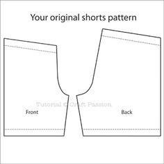 Tutorial: Altering Sewing Patterns - Shorts Length | Free Pattern & Tutorial at CraftPassion.com