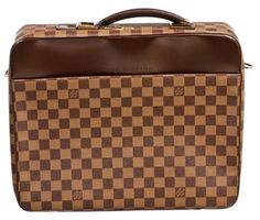 Louis Vuitton Damier Ebene Porte Ordinateur Sabana Briefcase Brown Messenger Bag $1,279