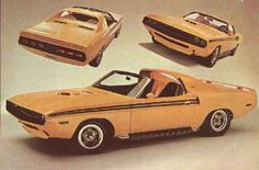 1969 Dodge Challenger Yellow Jacket Concept Car