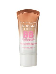 Affordable tinted moisturizer with decent coverage. It works well on my oily skin under a light dusting of powder. Maybelline New York Dream Fresh BB Sunscreen