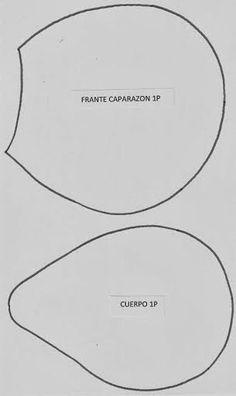 Moldes Para Artesanato em Tecido: Molde Tartaruga