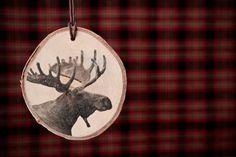 DIY Rustic Wood Slice Photo Transfer Ornaments