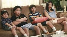 """""""Fresh Off the Boat"""" They always watch TV together. Fresh Off The Boat, Asian Celebrities, Sumo, Wrestling, Tv, Sports, Watch, Lucha Libre, Hs Sports"""