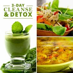 Three Day Cleanse & Detox will help you get in the spirit of your new weight loss plan!  #3daycleanse #cleanse #detox
