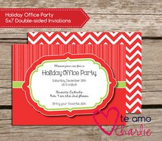 Christmas Birthday Party Invitations #december
