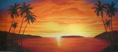Tropical Sunset Backdrop