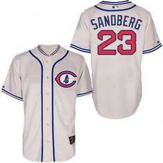 b95f6e433 Men s Chicago Cubs 1929 Ryne Sandberg Majestic 100th Anniversary