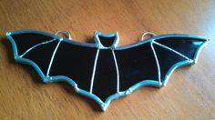 Stained Glass Halloween bat