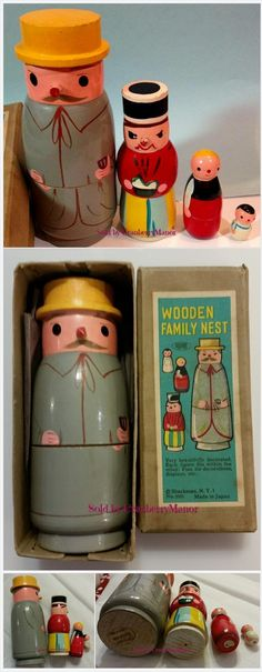 Wooden Family Nest Nesting Dolls by #Shackman NY Made in #Japan #Vintage #MidCentury 1960s Novelty Toy Gift, Original Box http://cranberry-manor.com/wooden-family-nest-dolls-by-shackman-ny-made-in-japan-vintage-mid-century-1960s-novelty-toy-gift-original-box/