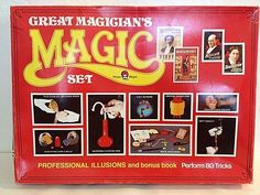 New Royal Magic GREAT MAGICIANS MAGIC SECRET Set Sealed 80 Tricks 12 Apparatus #ROYALMAGIC