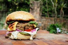 Here it is - THE Lamb & Haloumi burger recipe courtesy of the very talented Chelsea Winter. Feeling SO hungry! #nobull