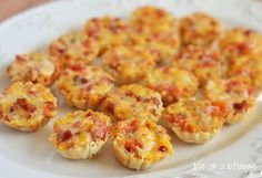 Cheesy Bacon Rotel Cups... I used a roll of jimmy dean sausage instead of bacon. So good!