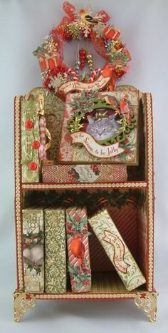 Artfully Musing: Christmas in July Bookshelf and Mini Albums - Designed for Alpha Stamps