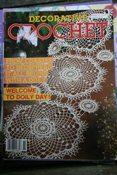Crochet Patterns Decorative Crochet Magazine Issue 15 May 1990 by elanknits on Etsy
