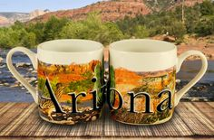 Arizona Mini Mug - espresso style mug, featuring color graphics and 3D relief lettering.