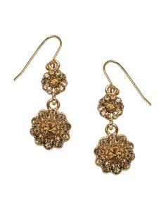 Golden Snowflake Drop Earrings | Gold | Accessorize